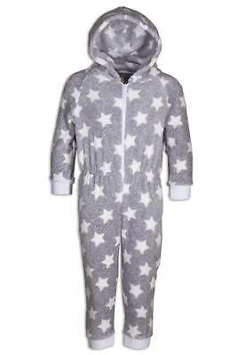 Camille Childrens Supersoft Grey Star All In One Jumpsuit