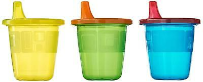 Assorted Colors Sippy Cups With Snap-On Lids 7oz BPA-Free Spill-Proof Drinkware