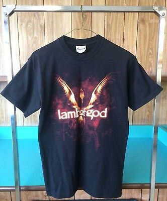 Lamb Of God Again We Rise 2007 Sacrament Tour T-Shirt Black Size Small