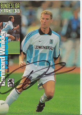 Bernhard Winkler 1860 München Panini Card 1997 TOP Orig. Sign. +A27443