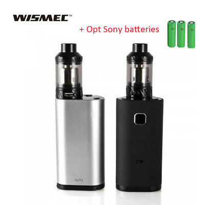 Luxury WISMECe MyVapors myTri 300W TC Kit w KAGE Tank w Opt SONY Battery US