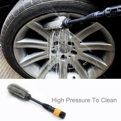 360° Car Truck Wheel Wash Brush High-pressure Trim Water Power Washing