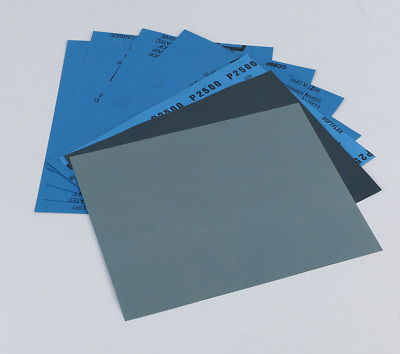 1Pcs Wet Dry Sandpaper 400/600/800/1000/1200/1500/2000/2500/3000 Grit Assort....