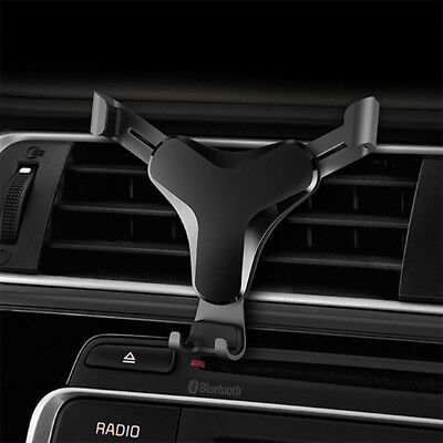 Universal In-Car Air Vent Gravity Design Mount Holder Stand For Mobile Phone NEW