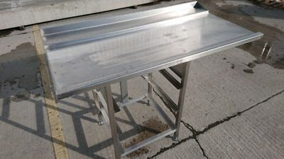 USED STAINLESS Steel Dishwasher Table Work Bench Prep Kitchen Food - Stainless steel dishwasher table
