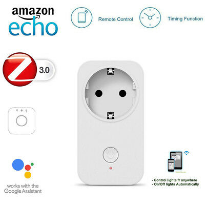Echo Plus Bridge Compatible US/EU/UK Plug Outlets Smart ZigBee 3.0 Socket Switch