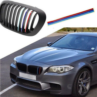 1 Set M Tech Color Front Grill Grille Badge Sticker Emblems Decal For All Series
