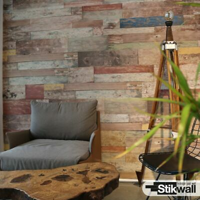 3D WOOD EFFECT DECORATIVE WALL PANELS CLADDING EPS STIKWALL - 2.5m²