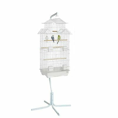 Ex Large Jintu Budgie Canary Parakeet Finch Cage & C7 White Bird Cage Stand …