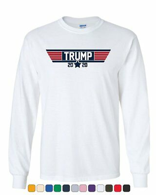 Donald Trump 2020 Long Sleeve T-Shirt Political Two Terms MAGA US President Tee