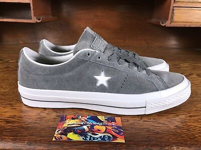 1b976a2a08e4 Converse One Star Suede OX Mens Low Top Skate Shoes Grey White 153962C Size  8