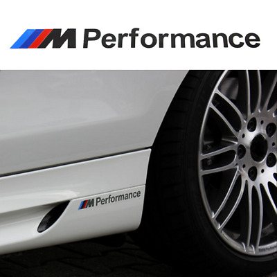 2Set M Tech Color Performance Badge Black Sticker Emblems Decal For All Series
