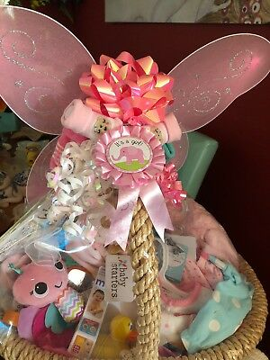 Baby Girl Gift Basket Pink Custom 👼🏻