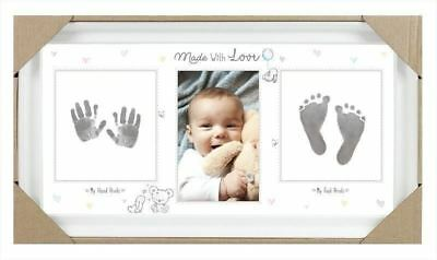 New Baby Keepsake Footprint Hand Print Photo Frame Ink Pad Picture Frame Baby