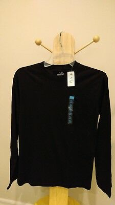 The Childrens Place Boy Size XL 14 Black Long Sleeve T Shirt NWT