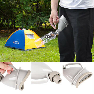Car Handle Urine Bottle Urinal Funnel Tube Travel Outdoor Camp Urination *Device