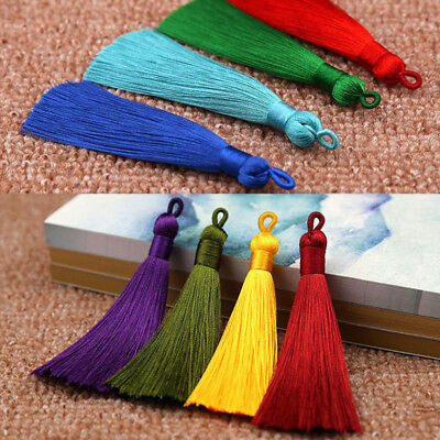 2PCS Long Tassel For Bookmark Earrings Handmade Crafts Jewelry Accessories DIY