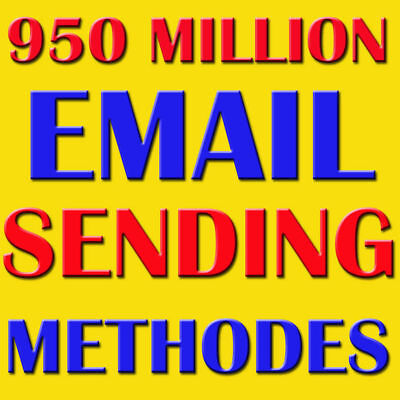 950 Million Email Database For Business Marketing With Sending Method!!!