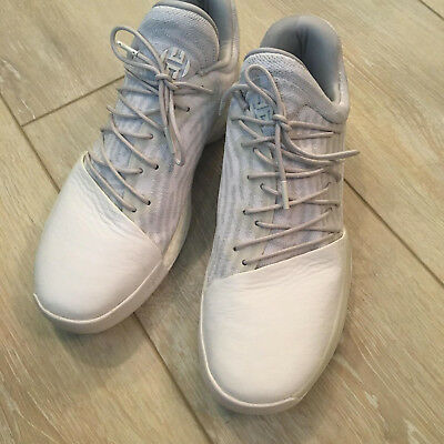 852f6484e38 Adidas James Harden Vol 1 White and Gray Basketball Shoes B39495 – Size 11