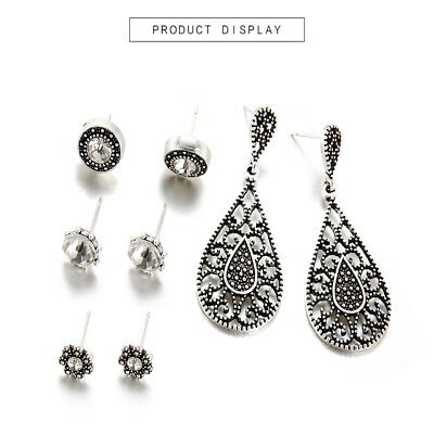 Bohemian Crystal Drop Statement Earrings For Women Exaggerated Retro Jewelry MA