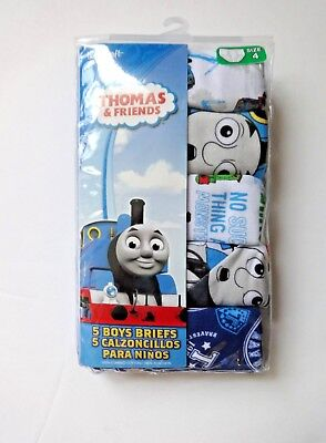 Thomas The Train Boys Briefs Underwear 5 Pack Size 4
