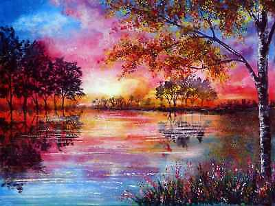 Diamond Painting 5D DIY Red Tree Embroidery Kit Pictures Full Drill Arts Crafts