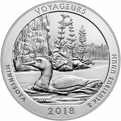 2018 5 oz Silver ATB Voyageurs National Park, MN - With NEW Air-Tite Holder