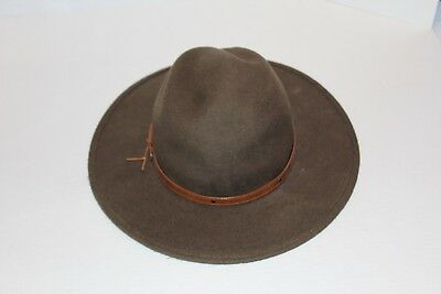 Green WESTERN EXPRESS INC COWBOY Soft FELT HAT 7.5