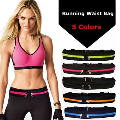 Running Belt Waist Band Fanny Pack Gym Sports Jogging Bum Bag Phone Money Pouch