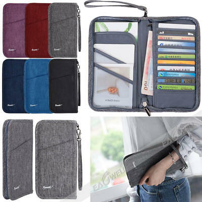 New Blocking Passport Holder Travel Wallet Leather Case Cover Securely Holds