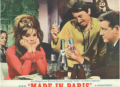 Made In Paris Ann Margret Richard Crenna Vito Scotti Vintage Original Lobby Card