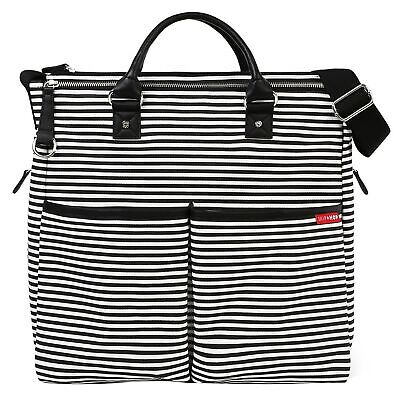 Skip Hop Baby / Kids Duo Special Edition Changing Bag Black & White Stripe