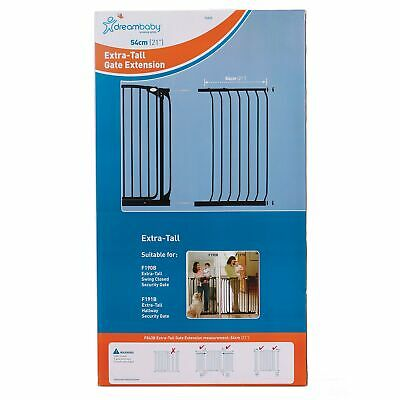 Dreambaby Baby / Kids / Childs Chelsea Tall Gate Extension 54cm Black F843B