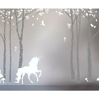 Lilies And Lions Baby / Kids / Childs Wall Stickers Magical Unicorn MU.WS