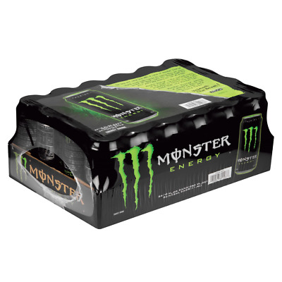 Pack of 24 Monster Energy Drink 16 oz. Smooth Easy Drinking Flavor By Monster