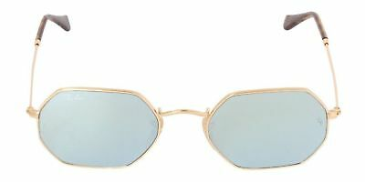 1a8ee885cb NEW Ray Ban Octagonal FLat RB3556N 001 30 53mm Gold Frame SIlver Flash  Mirrored