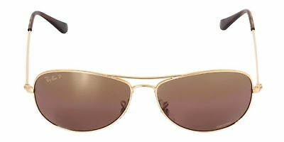 0d8d206b68 NEW Ray Ban Chromance RB3562 001 6B 59mm Gold Frame Purple Mirror Polarized  Lens