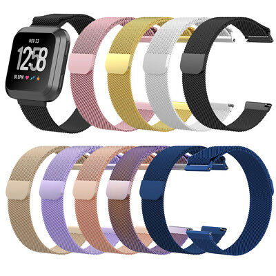 Milanese Magnetic Loop Stainless Steel Band Strap for Fitbit Versa Smart Watch