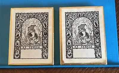 2 Boxes Antioch Bookplate Co. Gnome Troll Ex Libris 91 Total Bookplates