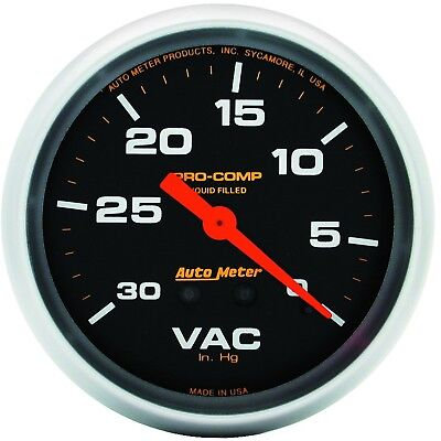 AutoMeter 5484 Pro-Comp Liquid-Filled Mechanical Vacuum Gauge