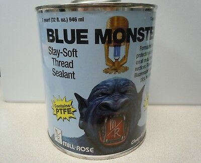Millrose 76029 Monster Stay Soft 32 Fluid Ounce PTFE Pipe Thread Sealant, Blue