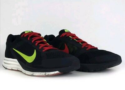 official photos 421a6 de4d1 NIKE ZOOM STRUCTURE 17 Black Neon Yellow Red Running Shoes Sneakers Mens  Size 12