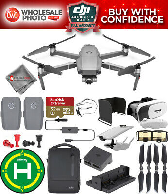 DJI Mavic 2 Zoom with Fly More Combo Kit PRO 3 Battery Bundle With Case and More