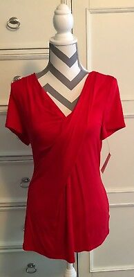 fe245c9426 NWT  59 MACYS NY Collection overlay lined blouse embellished 18 20 ...