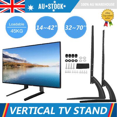 """Table Top TV Stand Desktop Bracket for Flat LED LCD Screen TV 14~42""""/32~70''"""