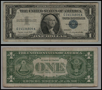1957A United States $1 Silver Certificate Note Circulated V270
