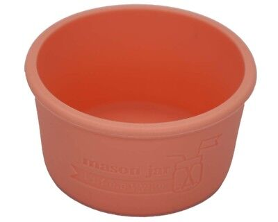 (2, Light Coral) - MJL Wide Mouth Half Pint Silicone Sleeve for Kerr Mason