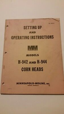 H-942 & H-944 Corn Heads_ Mineapolis Moline_ Operating Instructions_ S-444