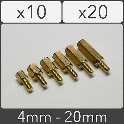 M2.5 Male to Female Standoff PCB Threaded Spacers Hex Hexagonal Brass 4mm - 20mm