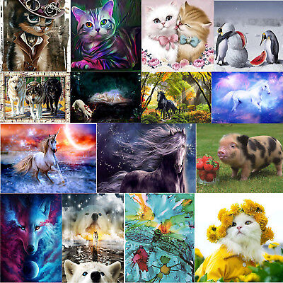 6c8abba060 Animals 5D Diamond Painting Embroidery Cross Stitch Kit Home Art Decor DIY  Gifts